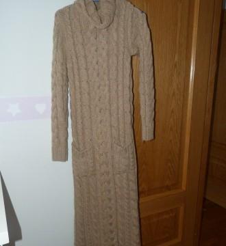vestido largo de punto