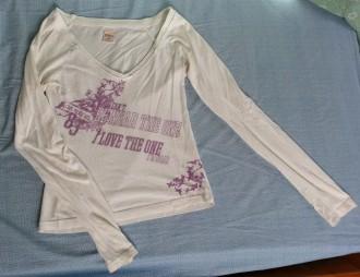 Camiseta manga larga blanca Only