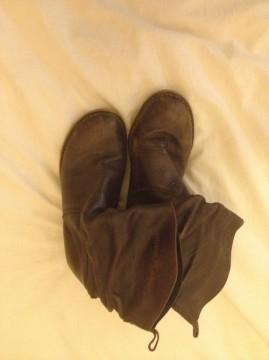 Botas camperas de piel