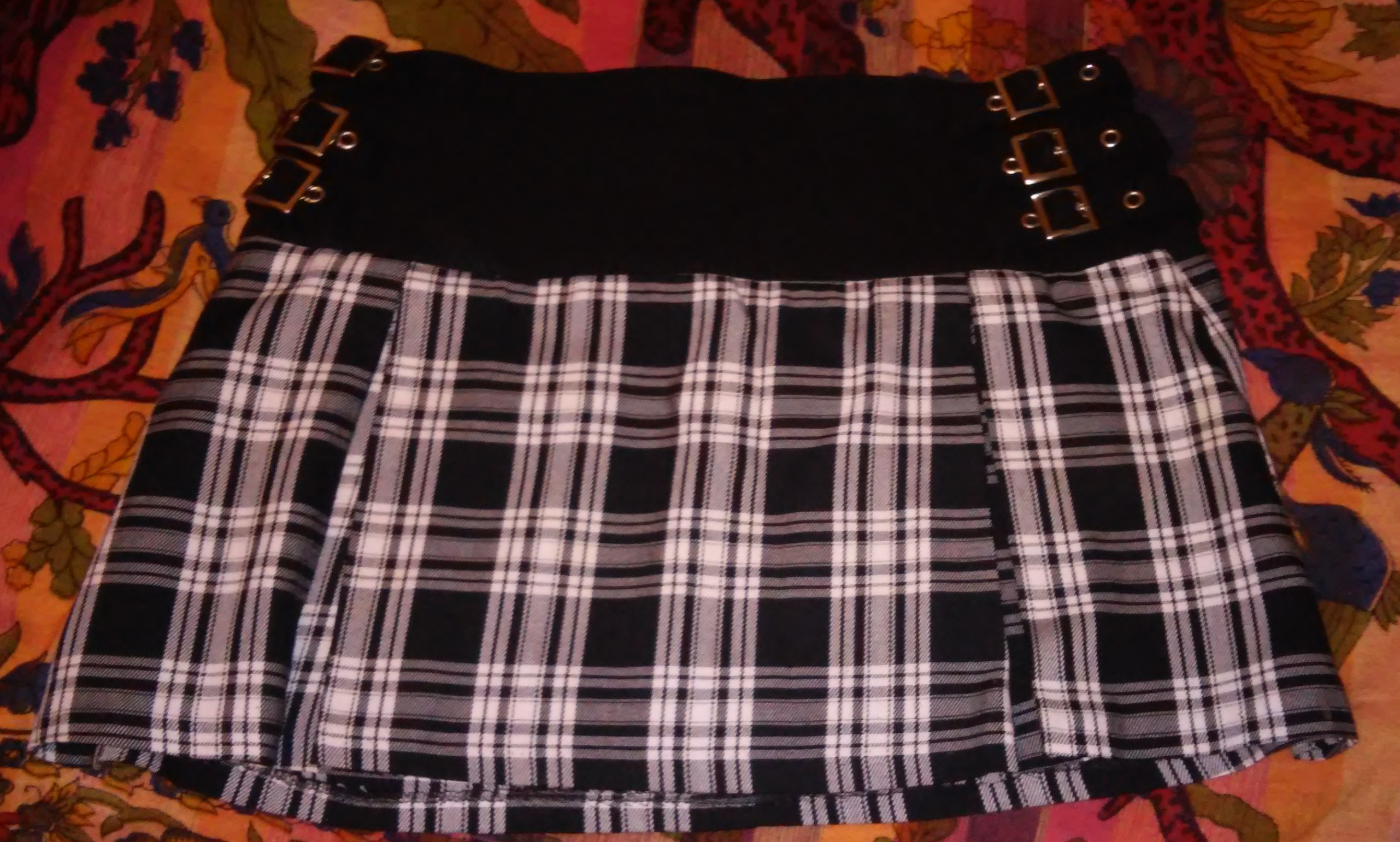 Falda de tablas de Bershka