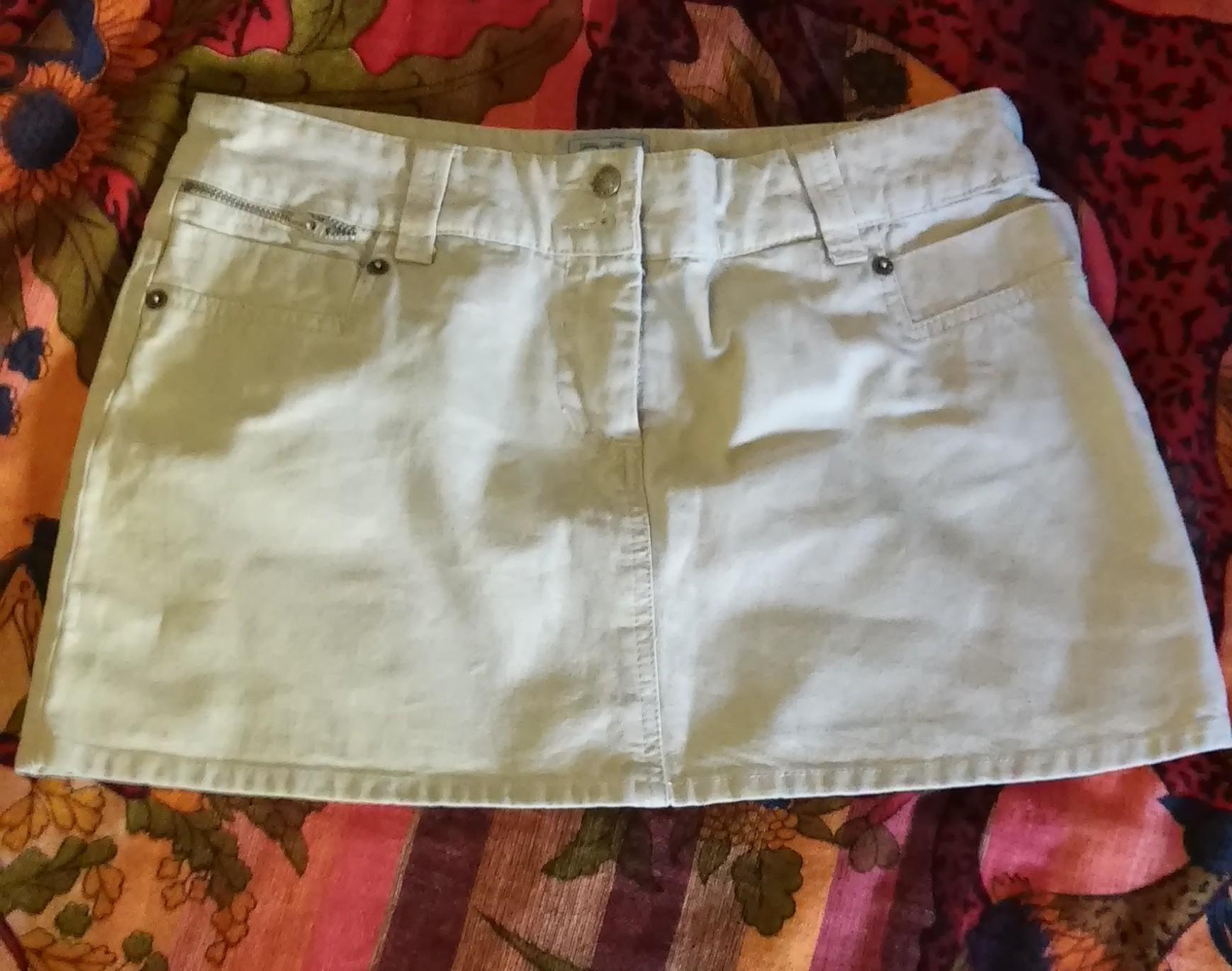 Minifalda marron / beige