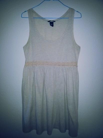 Vestido beige vintage