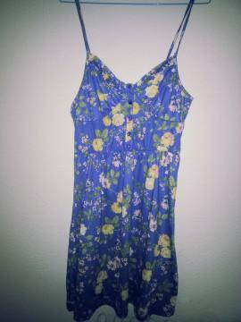 Vestido de flores azul Pull&Bear