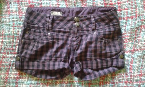 Shorts cuadros violetas lilas Pull&Bear