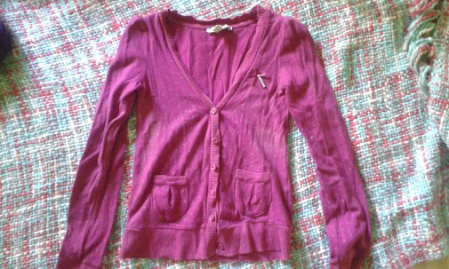 Rebeca rosa lunares topos lazo chaqueta vintage