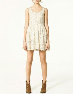 Vestido crochet nuevo Zara talla S