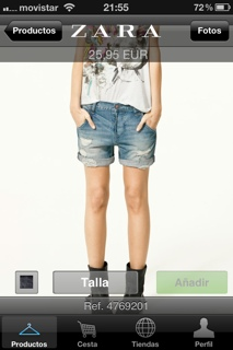 Short Zara nuevo talla 36