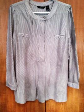 Camisa de rayas beis