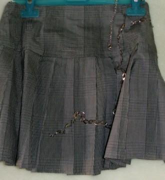 Falda bonita de rayas