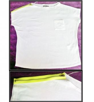 Camiseta cremallera fluor. Easy wear. 38-40