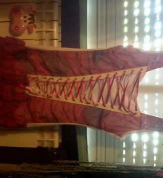 mini vestido rojo y blanco si estrenar