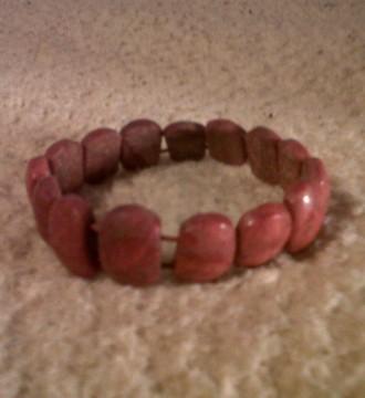 pulsera rojo coral