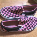 Vans Slip-On Cuadraditos Fucsias y Negros