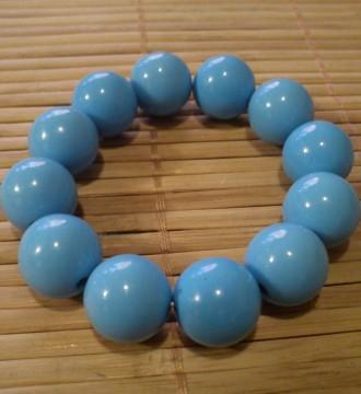 Pulsera perlas azules