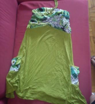 vestido verde pistacho talla unica