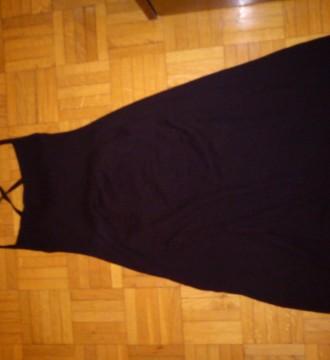 vestido stradivarius  negro de punto de talla L