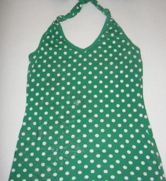 camiseta atada cuello verde