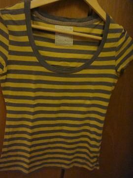 camiseta rayas gris-amarillo