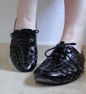 Zapatos Oxford negros piel de Topshop – 37