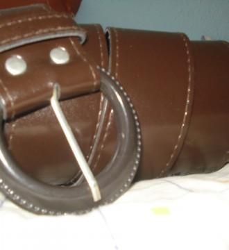 Cinturón ancho marrón
