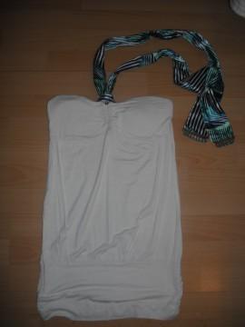 Camisa larga detalle cuello