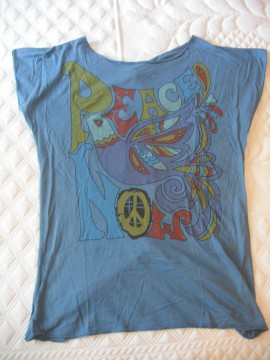 Camisa azul nudos espalda