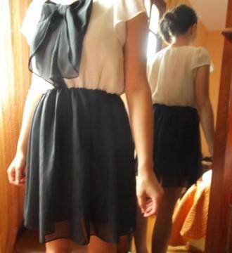 Vestido fiesta blanco y negro, 40