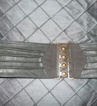 Cinturón ancho elástico gris – Pimkie