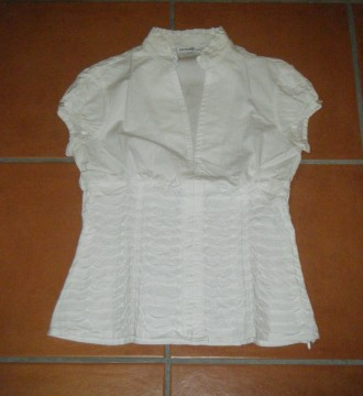 camisa blanca -forma de corsett