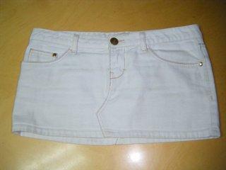 Minifalda blanca Pull&Bear