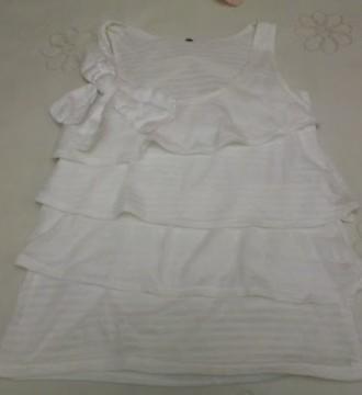 Camiseta blanca volantes talla M