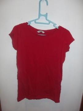 Camiseta Básica Roja H&M Talla S
