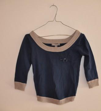 Jersey cortito azul de MANGO