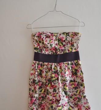 vestido de flores BLANCO M