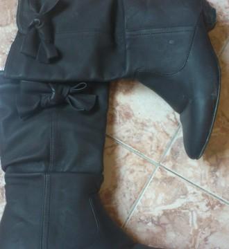 botas marrones con lazo de BLANCO