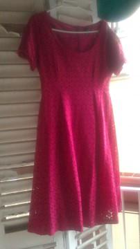 Vestido fucsia H&M