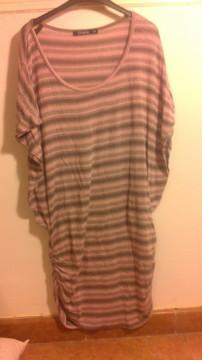 Camiseta larga de rayas