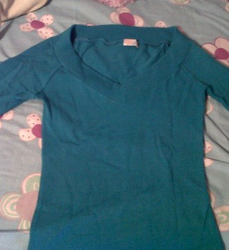 jersey finito azul cielo bershka