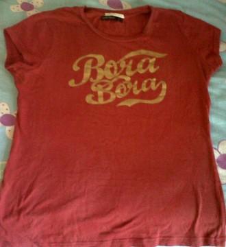 camiseta roja bora bora de lefties
