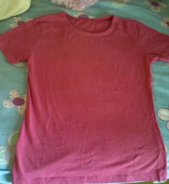camiseta basica rosa de mango