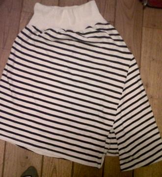 falda a rayas