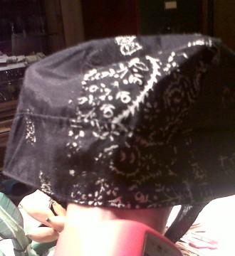 pañuelo-gorro negro