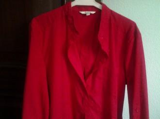 camisa roja stradivarius