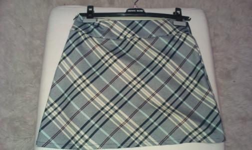 Minifalda cuadros gris