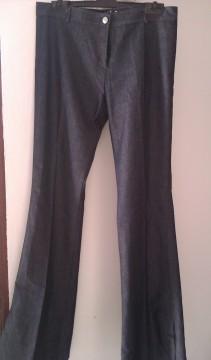 Pantalón de tela color vaquero, talla 38