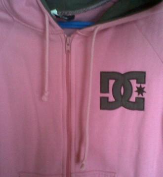 chaqueta DC rosa