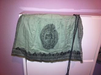 Falda verde zara