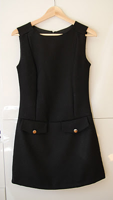 Vestido tweed en negro