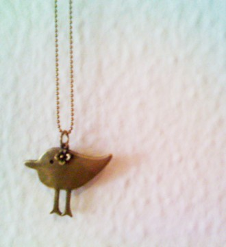 Colgante con pájaro