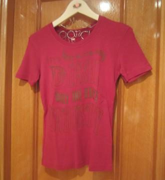 camiseta diesel rosa talla S